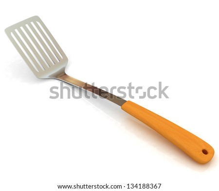 cutlery on white background - stock photo