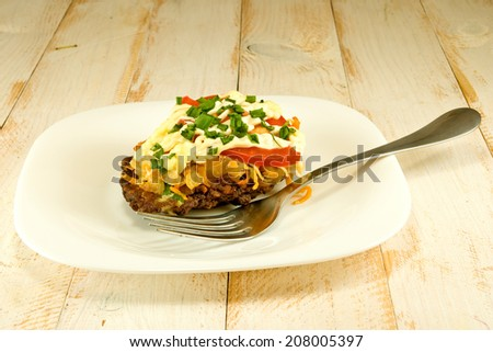 cutlets on the wooden table - stock photo