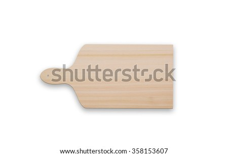 Cutting board isolated - stock photo