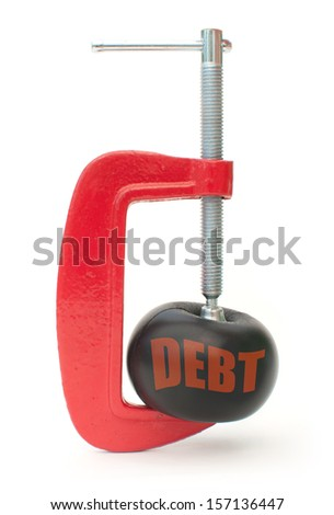 Cutting debt concept  - stock photo