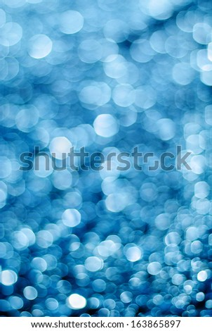Cyan bokeh. Pattern  - stock photo