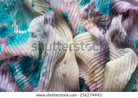 cyan fabric texture background pattern blue yellow red bright - stock photo