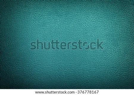 Cyan leather texture background - stock photo