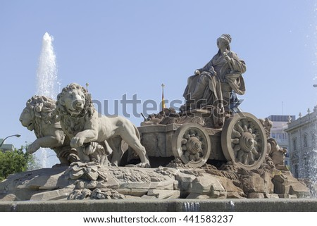 Cybele Fountain - stock photo