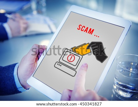 Cyber Attack Crime Fraud Phishing Hacker Security System Concept - stock photo