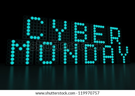 Cyber Monday dark background - stock photo