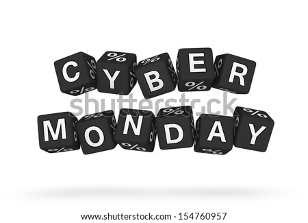 Cyber Monday design element - stock photo