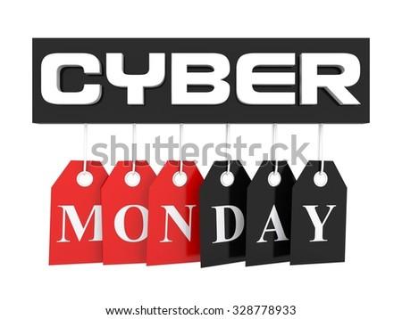 Cyber Monday discount - stock photo