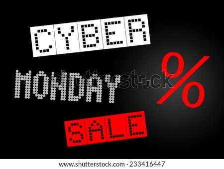 Cyber Monday sale banner illustration - stock photo