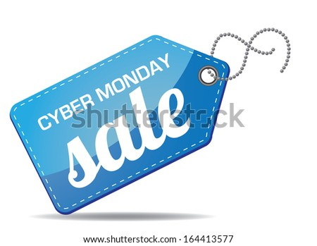 Cyber Monday sales tag. jpg. - stock photo