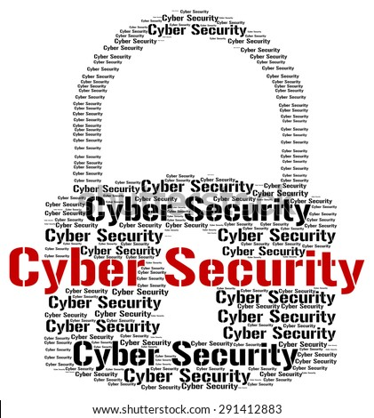 Cyber Security Representing World Wide Web And Web Site - stock photo