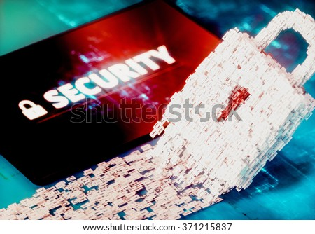 Cyberspace security concept. 3d computer generated image. - stock photo