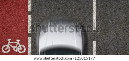 Cycle Lane - stock photo