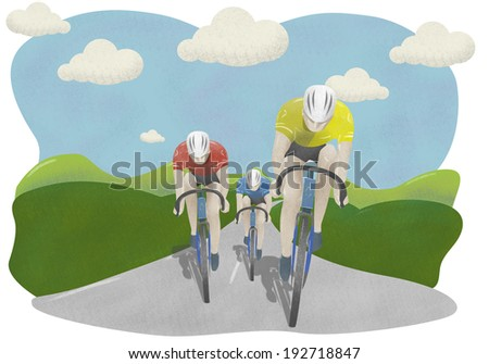 Cycle race in countryside  - stock photo