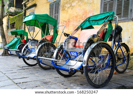 Cycle rickshaw( Cyclo ) in Hoi An, Vietnam - stock photo