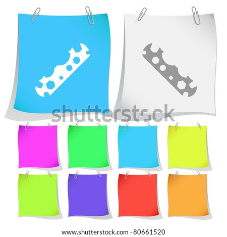 Cycle spanner. Raster note papers. Vector version is in portfolio. - stock photo