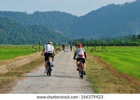 Cycling Fun - stock photo