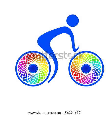 Cycling sport and recreation, healthy way of life - stock photo