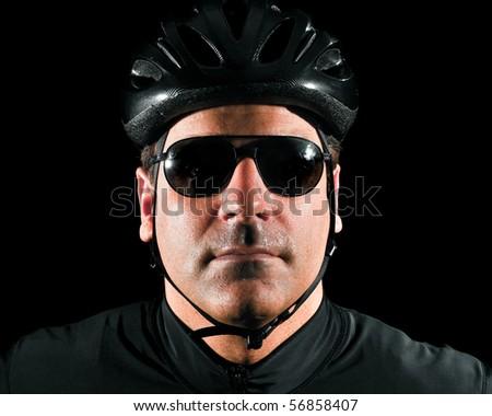 Cyclist Headshot - stock photo