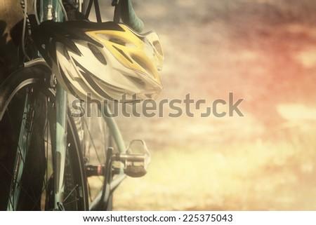 Cyclist riding  - stock photo
