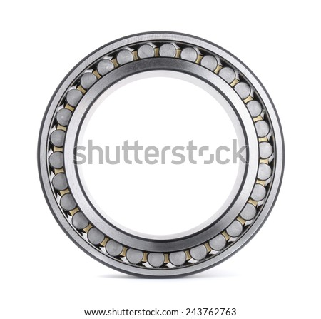Cylindrical roller bearing isolated on white - stock photo
