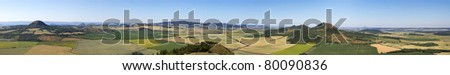 CZECH CENTRAL MOUNTAINS panorama - stock photo