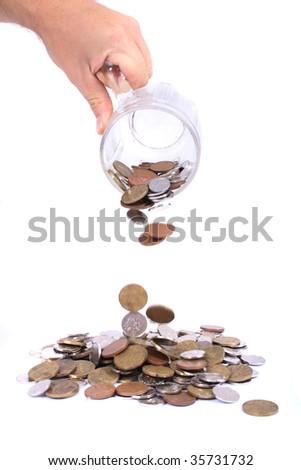 czech money as beer - stock photo
