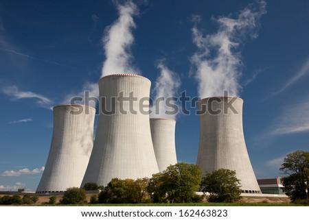 Czech nuclear power plant  Dukovany - stock photo