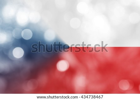 CZECH REPUBLIC : National flag. Soft blurred bokeh natural background. Abstract gradient desktop wallpaper.  - stock photo