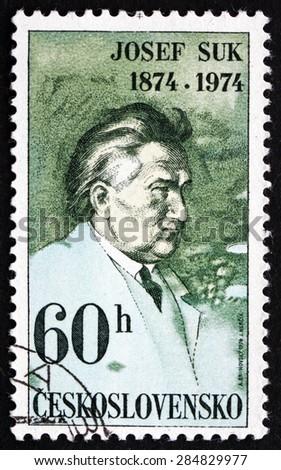 CZECHOSLOVAKIA - CIRCA 1974: a stamp printed in the Czechoslovakia shows Josef Suk, Czech Composer and Violinist, circa 1974 - stock photo