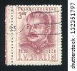 CZECHOSLOVAKIA - CIRCA 1949: stamp printed by Czechoslovakia, shows Joseph V. Stalin, circa 1949 - stock photo
