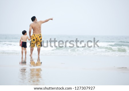 Dad and son - stock photo