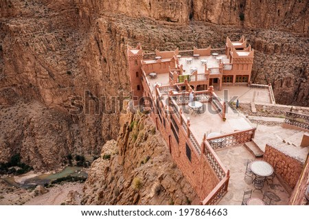 dades gorges valley, Morocco, Africa - stock photo