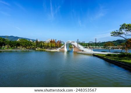 dahu park in taipei,taiwan - stock photo