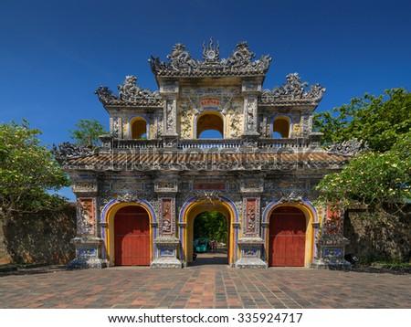 Dai Noi Citadel (UNESCO) in Hue, Vietnam - stock photo