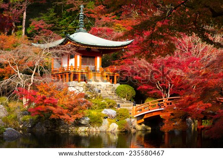 Daigoji Temple, Kyoto Japan - stock photo