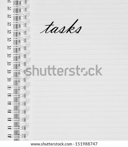 daily plan, tasks - stock photo
