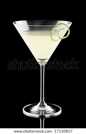 Daiquiri isolated on a black background - stock photo