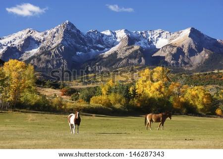 Dallas Divide, Uncompahgre National Forest, Colorado, USA - stock photo