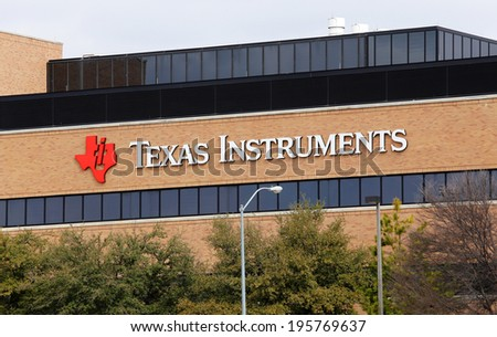 DALLAS � MARCH 14: The Texas Instruments world headquarters located in Dallas, Texas on March 14, 2014. Texas Instruments is an American company that designs and manufactures semiconductors.  - stock photo