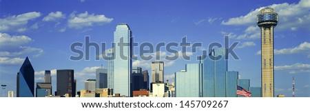 Dallas, TX skyline - stock photo