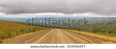 Dalton highway landscape - stock photo