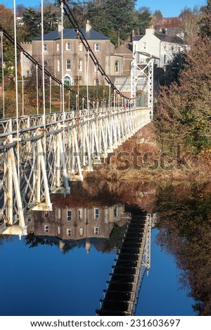 Daly's Footbridge on the River Lee in  Cork, Ireland. - stock photo
