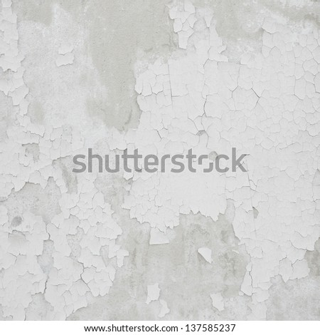 Damaged plaster concrete background wall  - stock photo