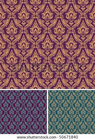 Damask seamless pattern - stock photo