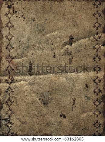 Damask vintage wallpaper (grunge texture) - stock photo