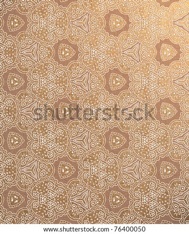 Damask wallpaper (classical ornament) - stock photo