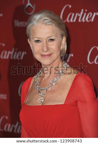 Dame Helen Mirren at the Awards Gala for the 2013 Palm Springs International Film Festival. January 5, 2013  Palm Springs, CA Picture: Paul Smith - stock photo