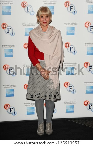 "Dame Helen Mirren introduces ""L'Atlante"", a film that inspired her to become and actress, at the BFI, South Bank, London. 18/01/2013 Steve Vas - stock photo"