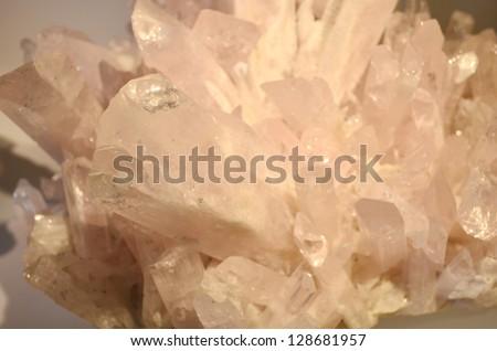 Danburite -- Pink crystals, Aurora Mine, Charcas, S.L.P., Mexico - stock photo